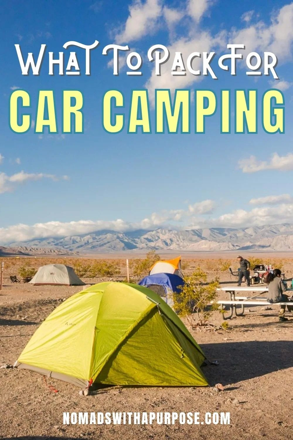 what to pack for car camping, pack list