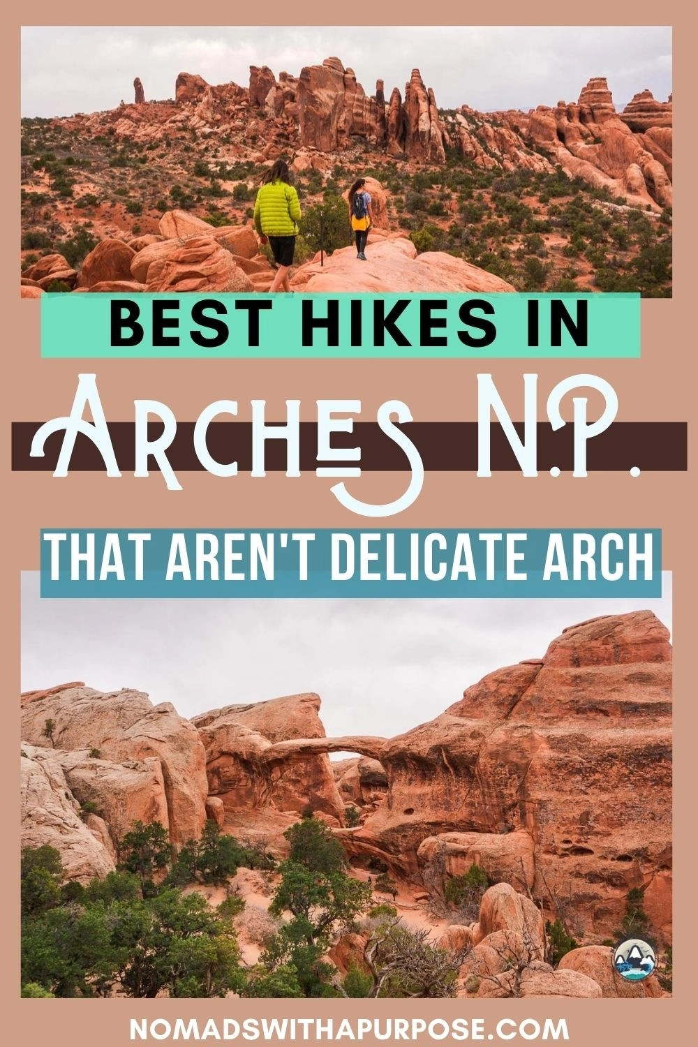 best hikes in Arches NP, double o arch