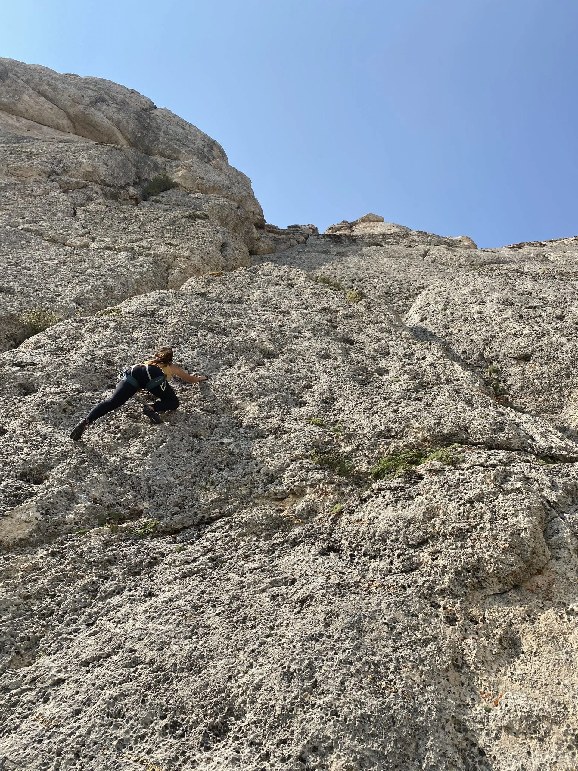 Climbing in Steamboat Point in Wyoming