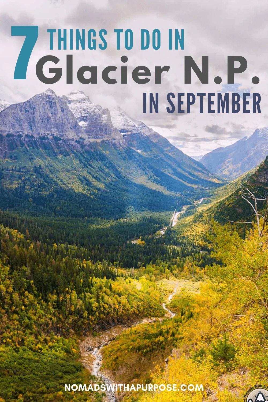 7 Things to Do in Glacier in September
