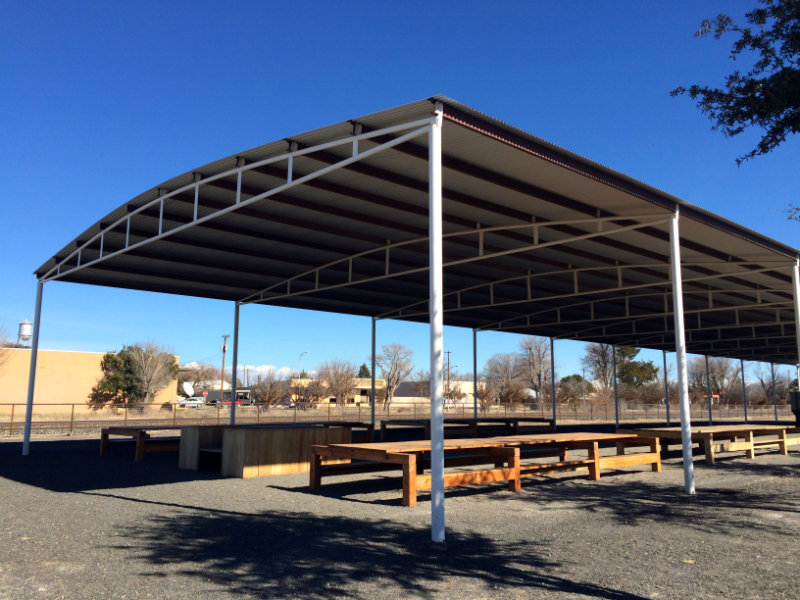 Marfa picnic tables