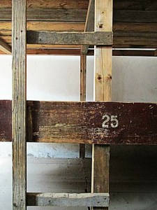 3-tiered wooden bunks at Terezin concentration camp, Czech Republic
