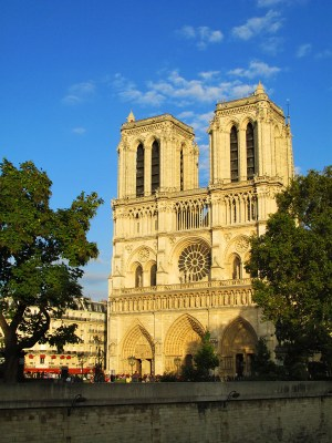 Notre Dame de Paris at the golden hour
