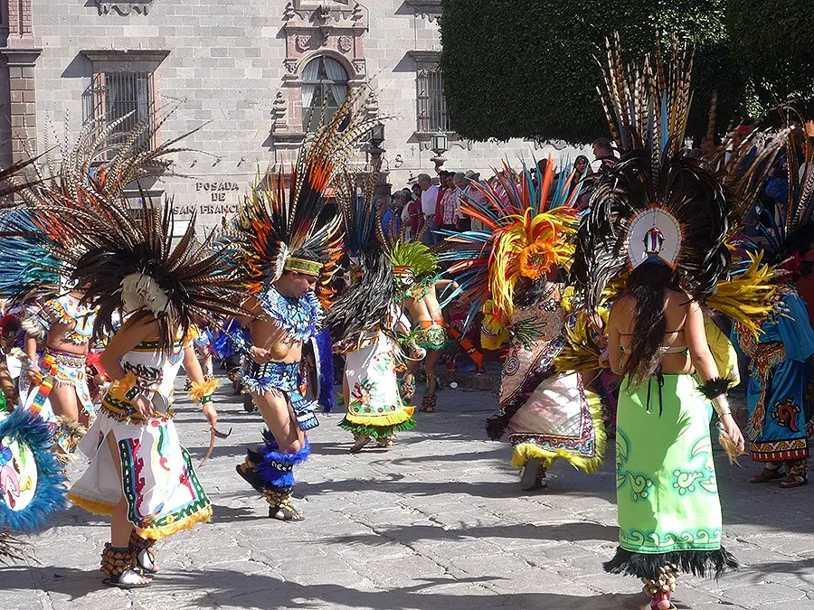 Conchero Dancers stomp, leap and spin their devotion in San Miguel de Allende
