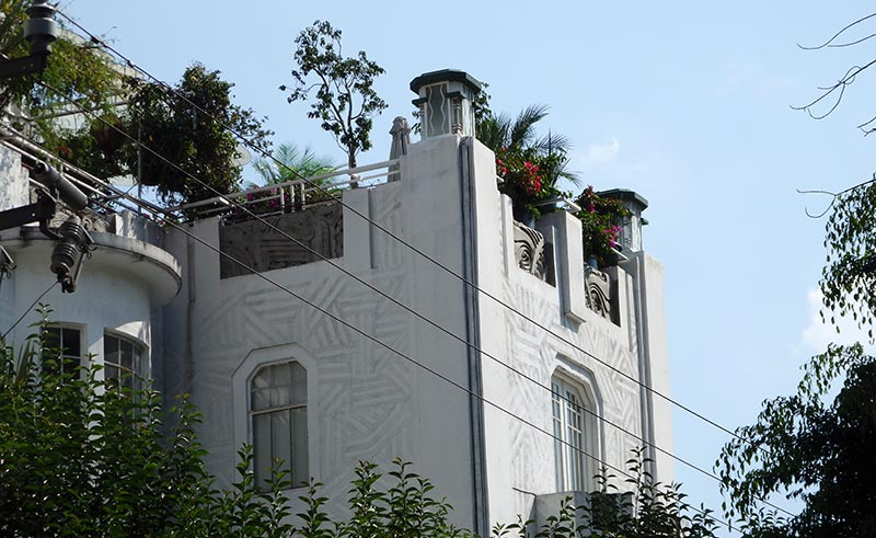 An Art Deco style building in Avenida Amsterdam, La Condesa, Mexico City