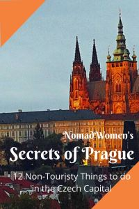 Secrets of Prague pin with Prague Castle