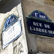 Paris street sign-Rue de l'Arbe Sec