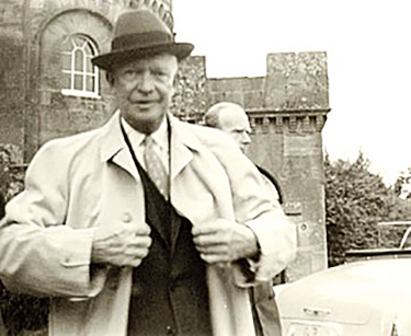 President Dwight D. Eisenhower on a visit to Culzean Castle, now home to the Eisenhower Hotel, in 1959.