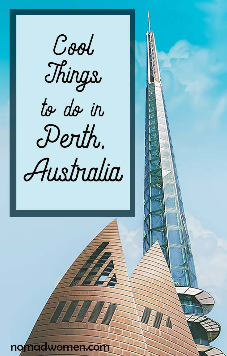 Pin - Cool things to do in Perth, showing the Bell Tower.
