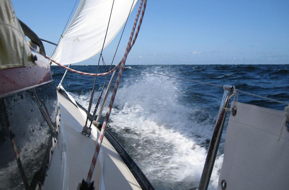 Windmolens in de Noordzee