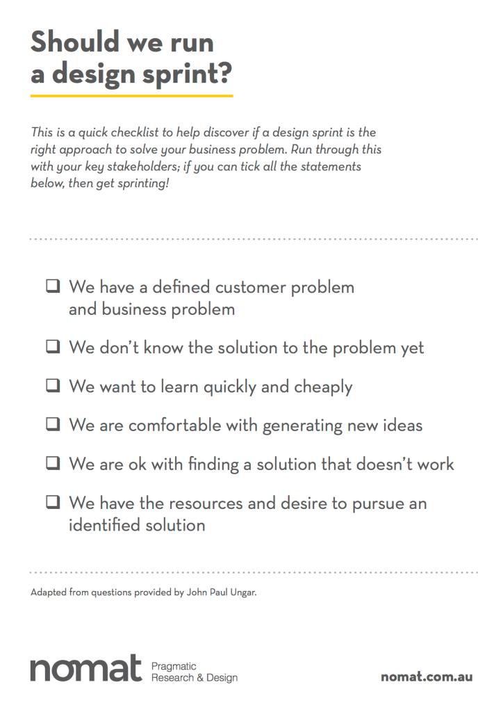 Should we run a design sprint?