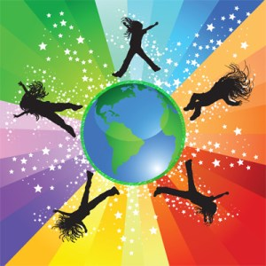 Global girl logo