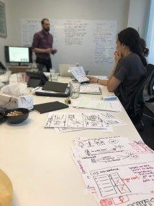 Design sprint in action