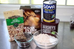 black bean brownie ingredients photo 300x200