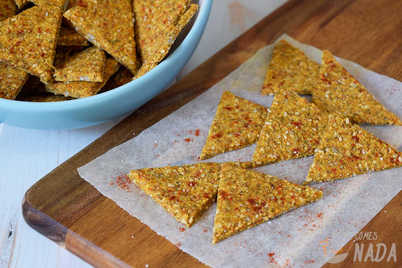 Crackers de garbanzo y pimentón