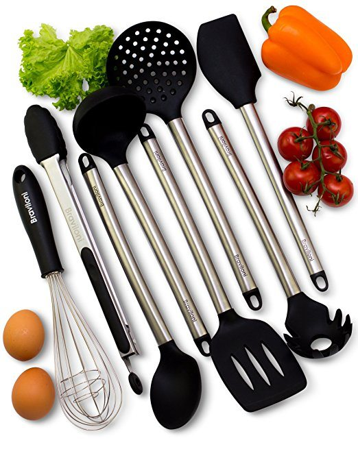 8 Piece Silicone Cooking Utensils By Braviloni
