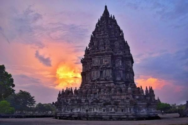 Sunset at Borobudur, Yogyakarta