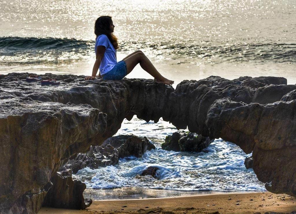 Natural Arch at the Mangamaripeta Beach