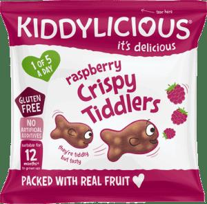 Kiddylicious - Framboos Crispy Tiddlers