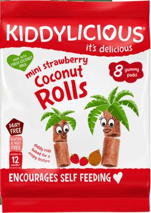 Kiddylicious - Aardbei Kokos Rolletjes