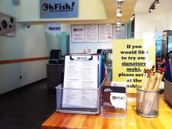Custom Built Sushi Order Sheet at Oh Fish