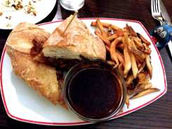 Prime Rib Dip Sandwich $17 @ Founding Farmers in Potomac, Maryland