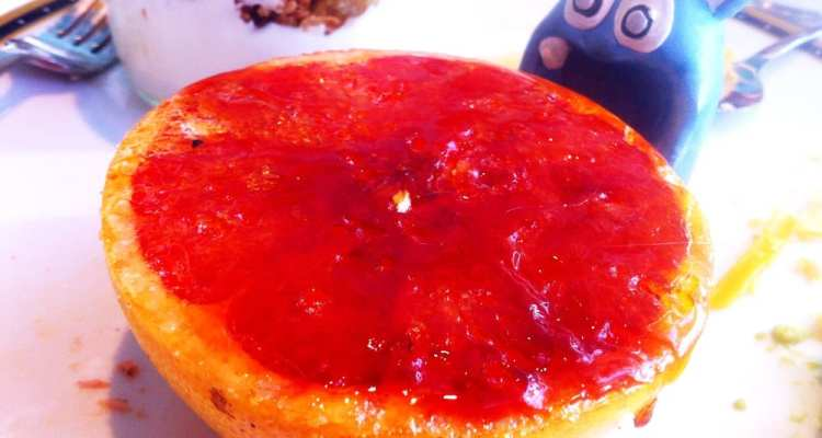 Bruleed Pink Grapefruit from Farmers Fishers Bakers Brunch