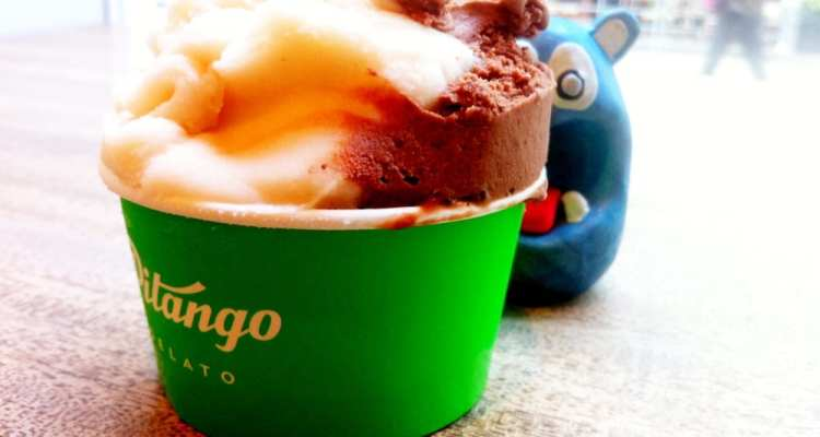 Dark Chocolate & Peach from Pitango Gelato