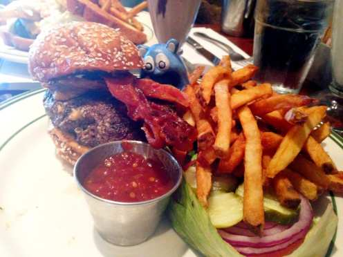 Drew's Peanut Butter Bacon Burger from Ted's Bulletin