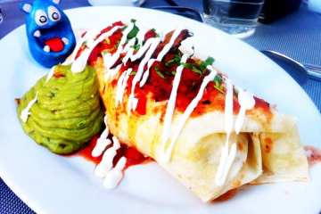 Breakfast Burrito from PBR Rock Bar
