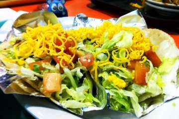 Picadillo Puffy Tacos from Chacho's San Antonio Texas