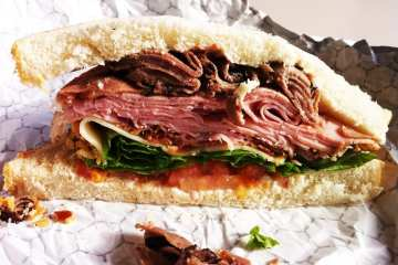 Chief Executive Sandwich from Rockville Courthouse Cafeteria