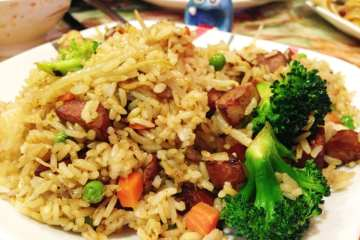 Chinese Style Sausage Fried Rice from Yuan Fu Vegetarian