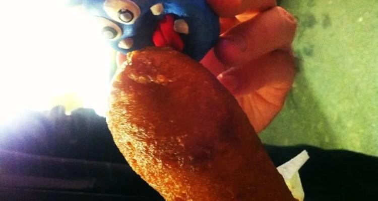 Corn Dog from Fiesta Oyster Bake San Antonio Texas