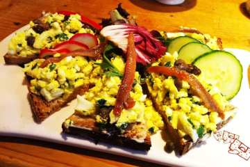 Egg Salad Tartine from Le Pain Quotidien