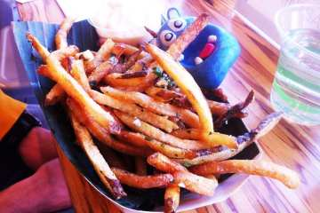 Garlic Cilantro Fries $6 @ Frita Batidos in Ann Arbor Michigan