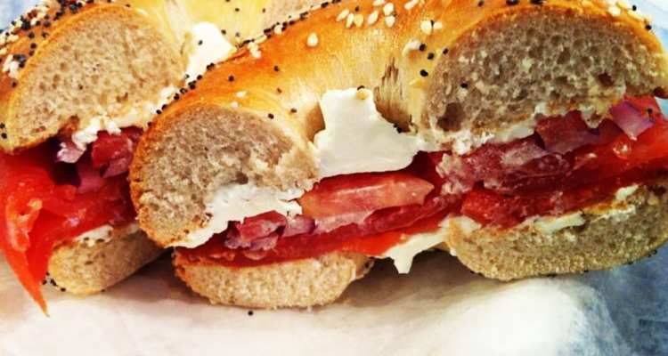 Miami Burger Bagel from Georgetown Bagelry in Bethesda