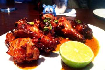 Oven Roasted Cracked Black Pepper Wings from Founding Farmers