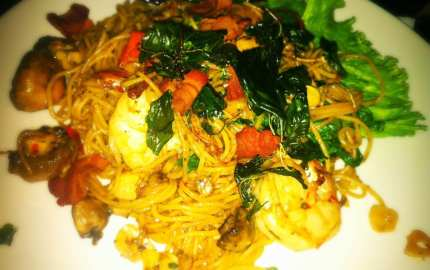 Shrimp Spaghetti from Rice
