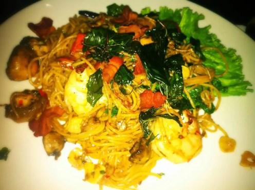 Shrimp Spaghetti from Rice