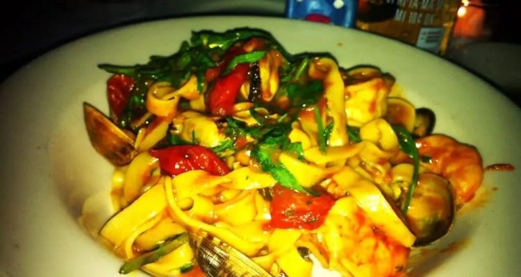 Tagliolini Fatti Seafood Pasta from Il Bagatto
