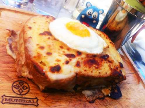 Croque Madame Sandwich from Luke San Antonio Texas