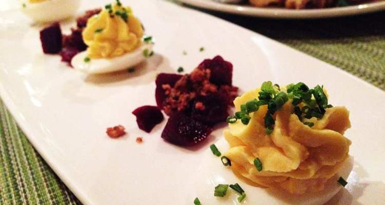 Farm Fresh Deviled Eggs from 8407 Kitchen Bar