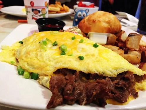 Philly Steak Omelete @ Silver Diner Rockville