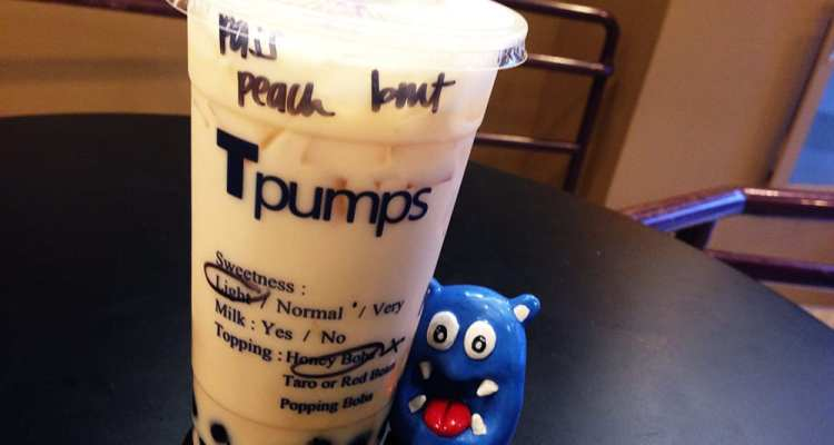 Honey Bobo Peach Bubble Tea @ Tpumps San Francisco