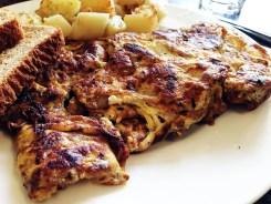 Chicken Teriyaki & Sweet Potato Omelet $10 @ Mark's Kitchen Takoma Park