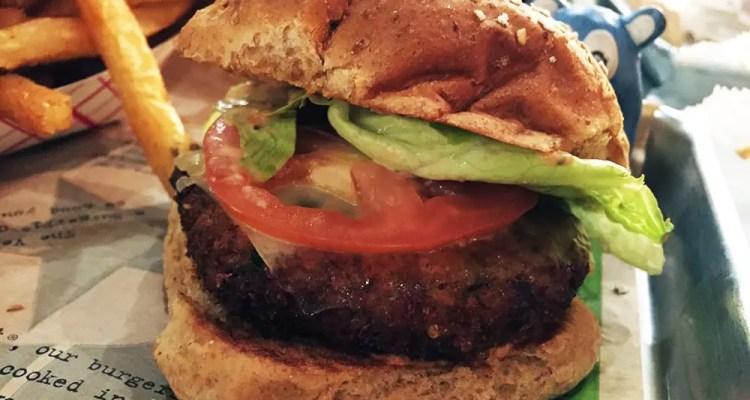 VegeFi Quinoa Burger @ Burgerfi Silver Spring