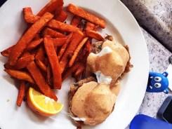 New Orleans Eggs Benedict $11 @ Crepevine Burlingame CA
