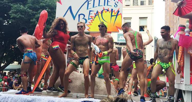 Nellie's Gay Sports Bar Float at Capital Gay Pride 2015