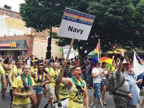 Gay Navy at Capital Gay Pride 2015